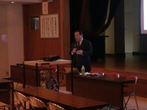林隆春さんの講演会の様子